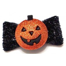 Jack O Halloween Bow