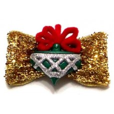 Glitters And Gold Christmas Bow