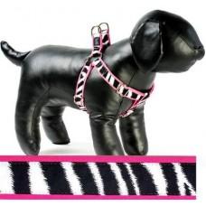 Zebra Step-in Dog Harness