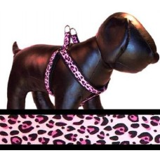 Pink Leopard Step-in Harness