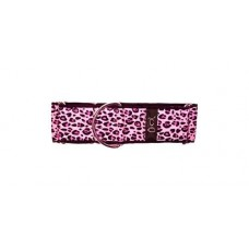 Pink Leopard Martingale Collar