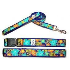 Shalimar Flowers Dog Collar
