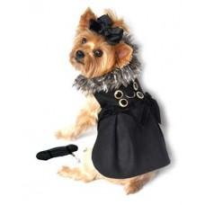 Classic Fur Collar Harness Coat