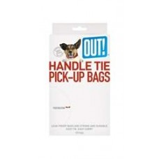Simply OUT!® Waste Pick-Up Handle Tie Bags 100 Count (black bags)