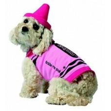 Pink Crayon Dog Costume