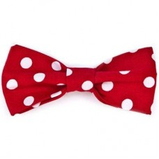 Bow Tie - Red/White Dots