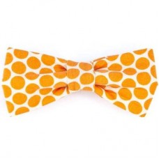 Bow Tie - Orange Dots
