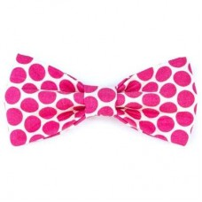 Bow Tie - Hot Pink Dots