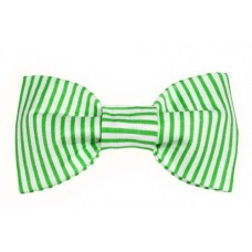 Bow Tie - Bright Green Pinstripe