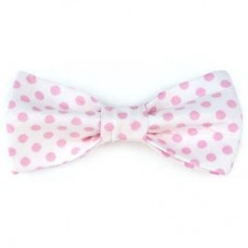 Bow Tie - Pale Pink Dots