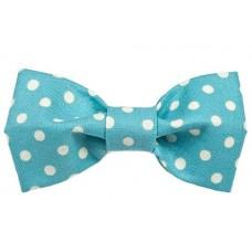 Bow Tie - Aqua/White Dots
