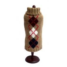 Brown Argyle Sweater