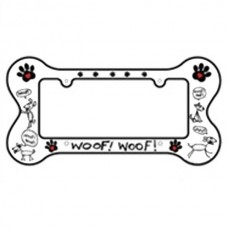 Woof Woof License Plate
