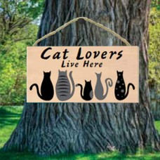 Cat Lovers Live Here Sign