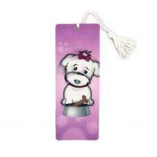3D Dog Pink Bookmark