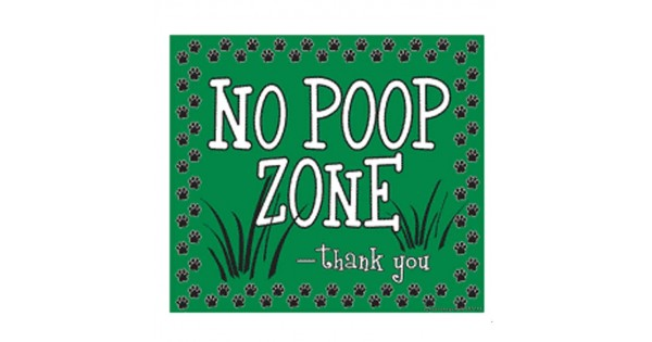 No Poop Zone Yard Sign Green X on Dog Harnesses For Car Travel