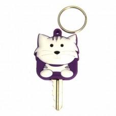 Tabby Cat Key Cover - White