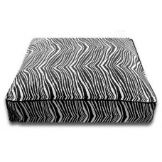 Black Zebra Rectangle Bed