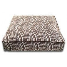 Brown Zebra Rectangle Bed
