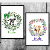 Customized Watercolor print of your dog