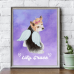 dog breed print memorial with angel wings