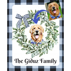 A Custom Pet Print In Wreath