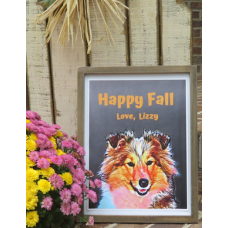 Your pet with Happy Fall Colors