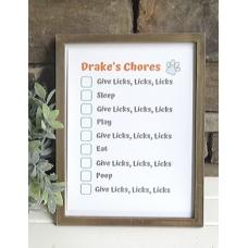 Funny dog chore list
