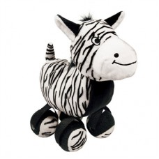 zebra tennis dog toy