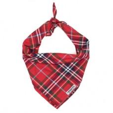 Red Plaid Dog Bandana