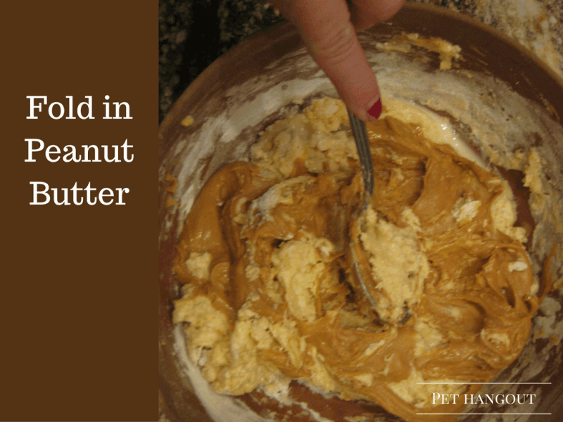 Fold in Peanut Butter to mix
