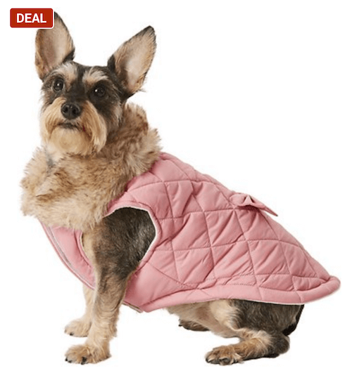 Dog and cat jacket with bow