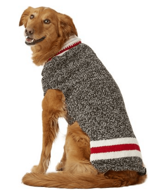 Grey knitted dog and cat sweater.