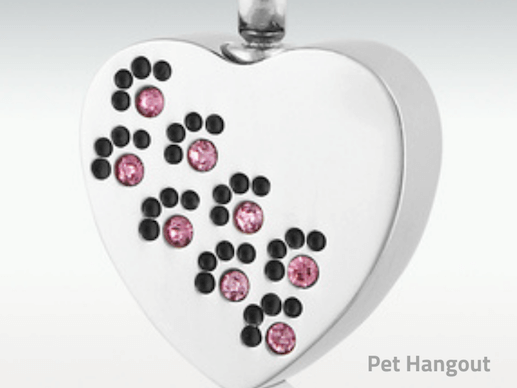 Carry your pet's ashes in a jewelry piece.
