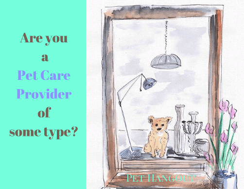 Pet care service provider business ad