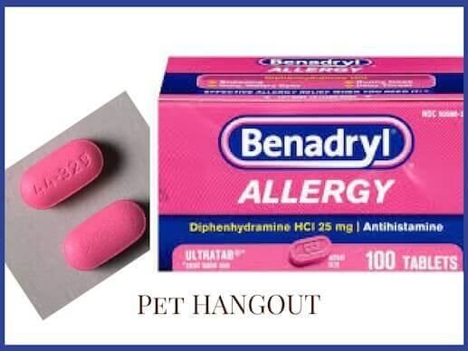 Benadryl package and tablet for allergies