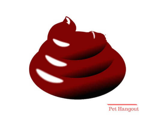 Pile of red poop