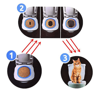 Toilet training system for kitty